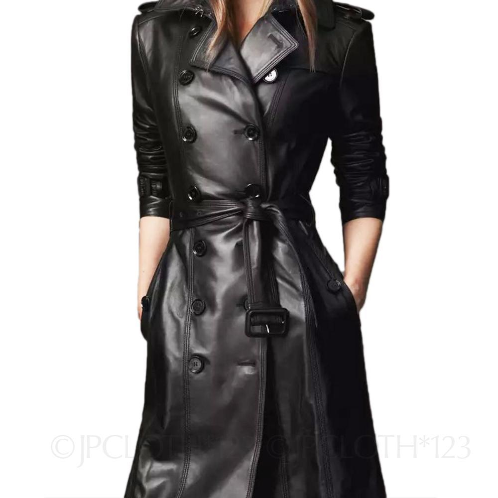 Lady-Buckled-Belted-Fitted-Mac-Soft-Womens-Jacket