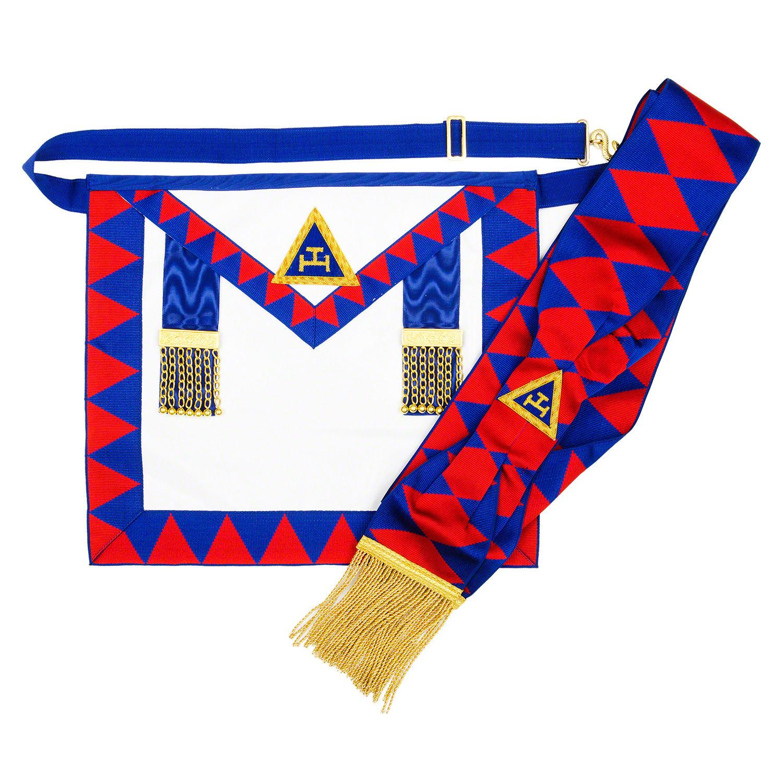 White lambskin apron - Chapter Royal Arch Masonic Apron Sash And