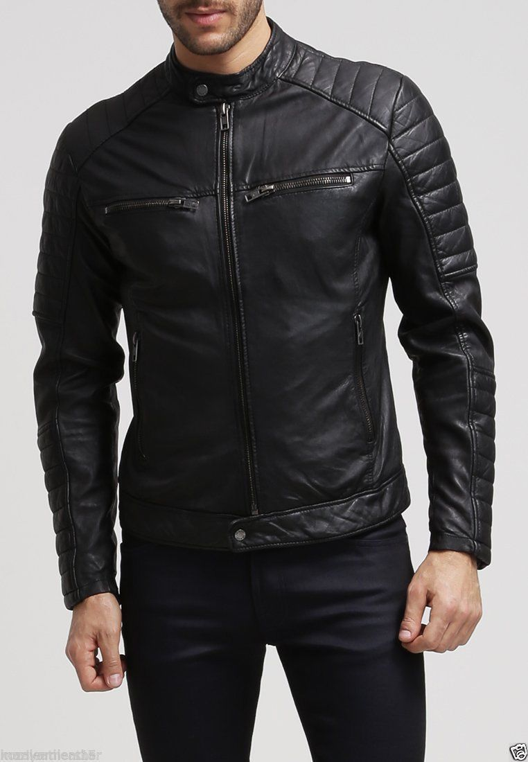 4ad9e741b Fashion Leather Jacket for men Genuine Lambskin Leather – Grand Store