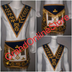 Master Mason Apron & Collar with hand embroidery
