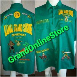 Shriner Shirt Kamal Grand Shrine Green