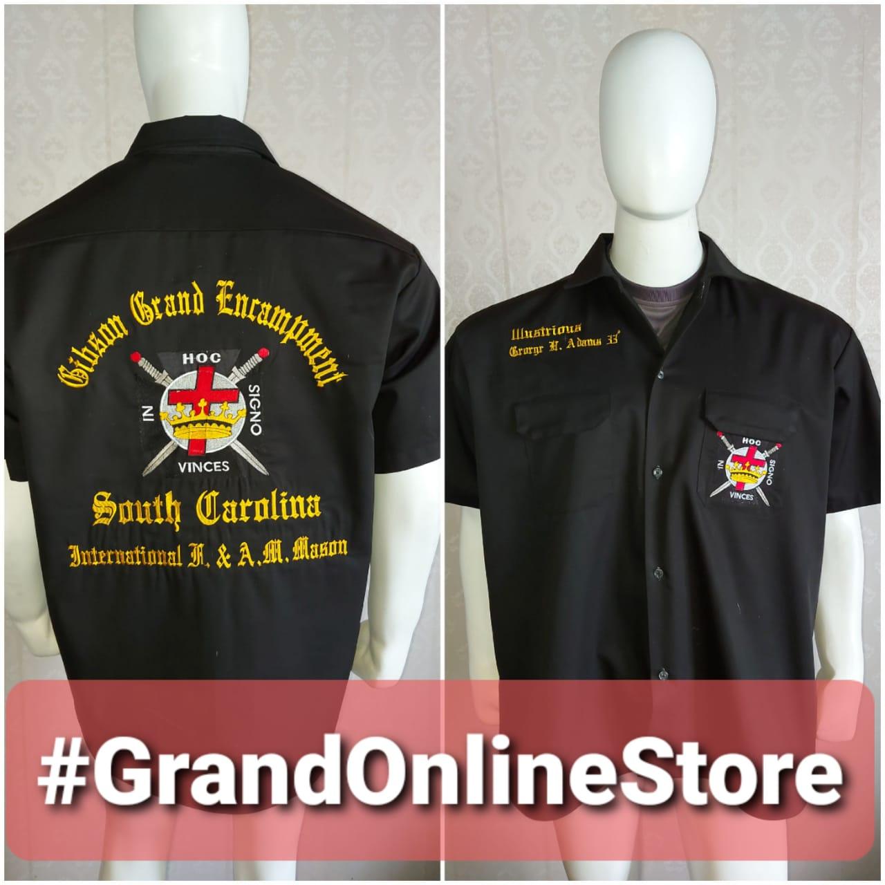 Knight Templar Shirt, KT Shirt Emrboidered Shirt