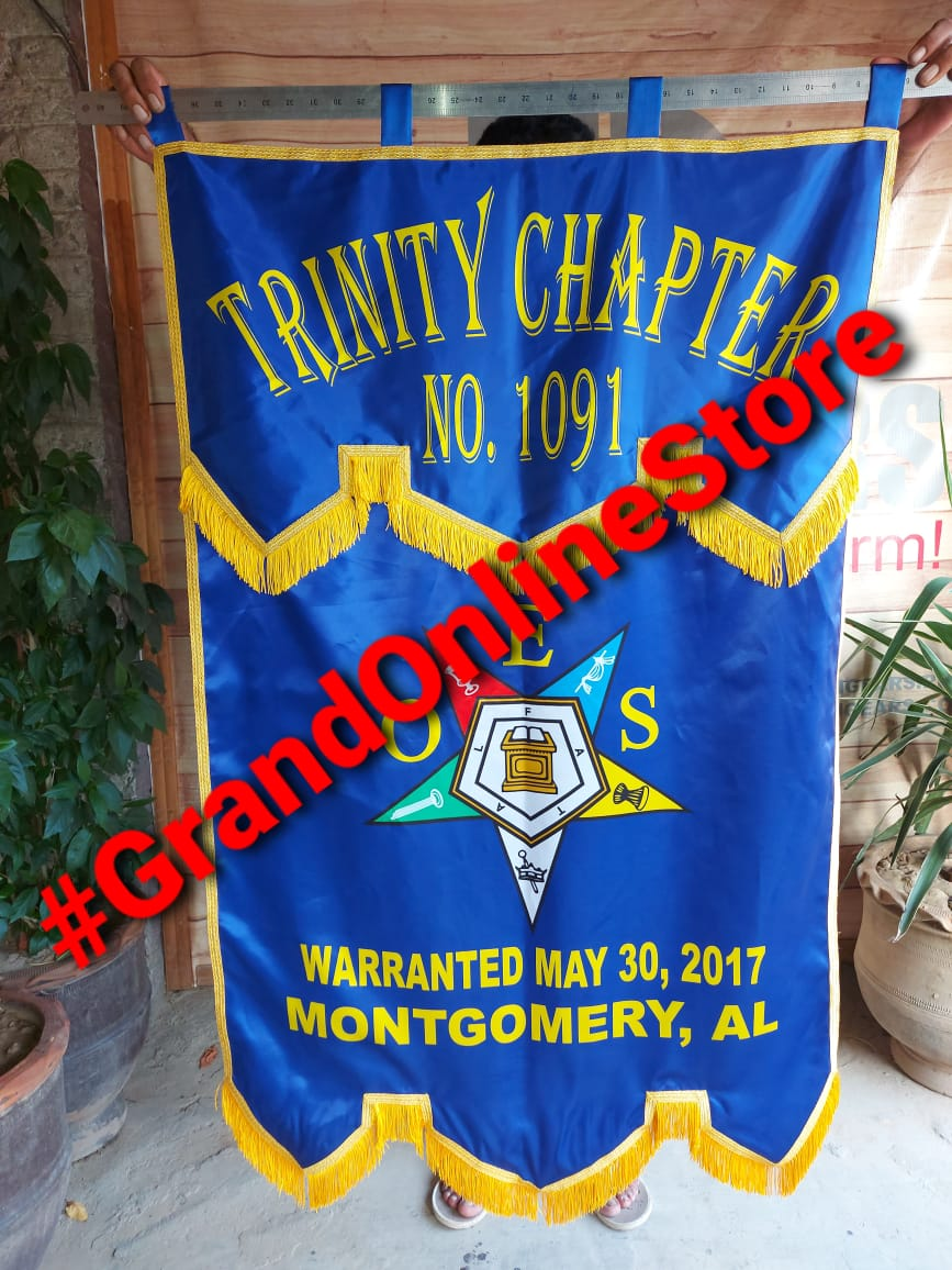 OES Banner, Order of the Eastern star chapter banner, oes chapter banner