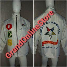 OES Windbreaker, windbreaker jacket white jacket