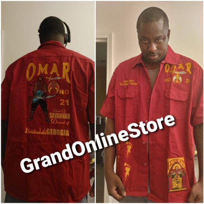 OMAR SHIRT, DICKIE SHIRT, best quality shirt, omar temple shirt, shriner shirt